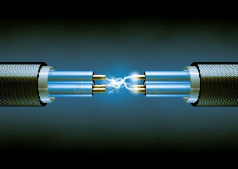 Elektrische Leitungen stock abbildung