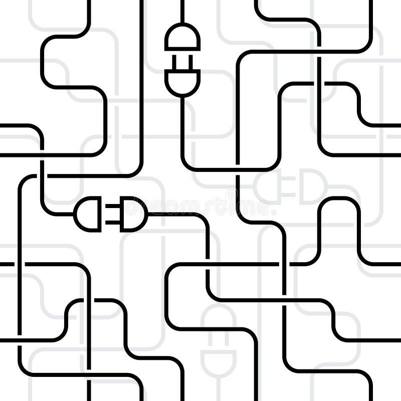 Elektrische Leitungen vektor abbildung