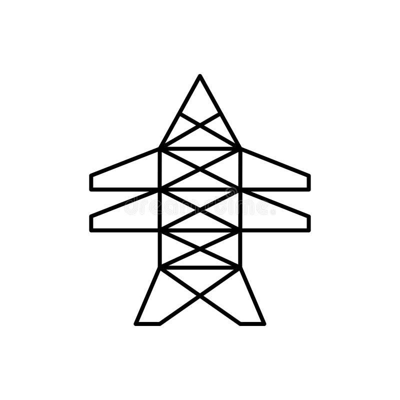 Elektrische lijnpijler voor het bijstaan van transmissieenergie vector illustratie