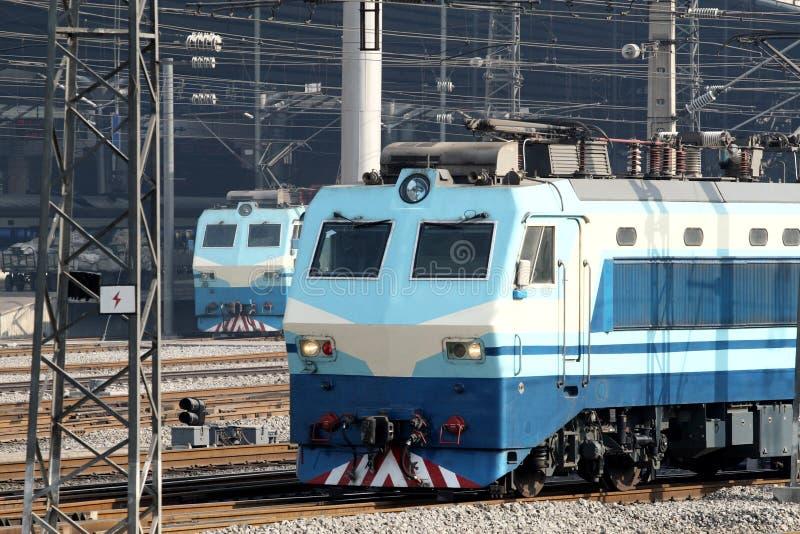 Elektrische locomotief royalty-vrije stock fotografie