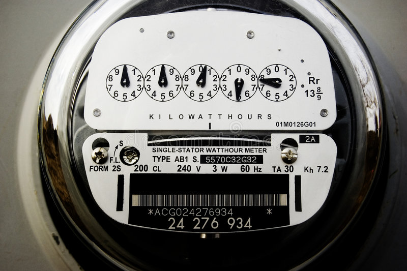 Elektrische Meter stock afbeelding