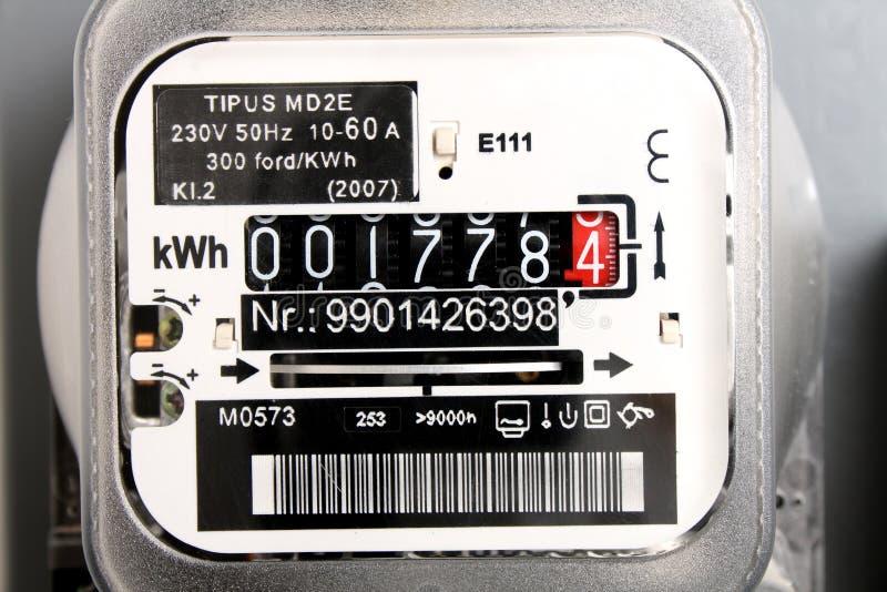 Elektrische meter royalty-vrije stock foto