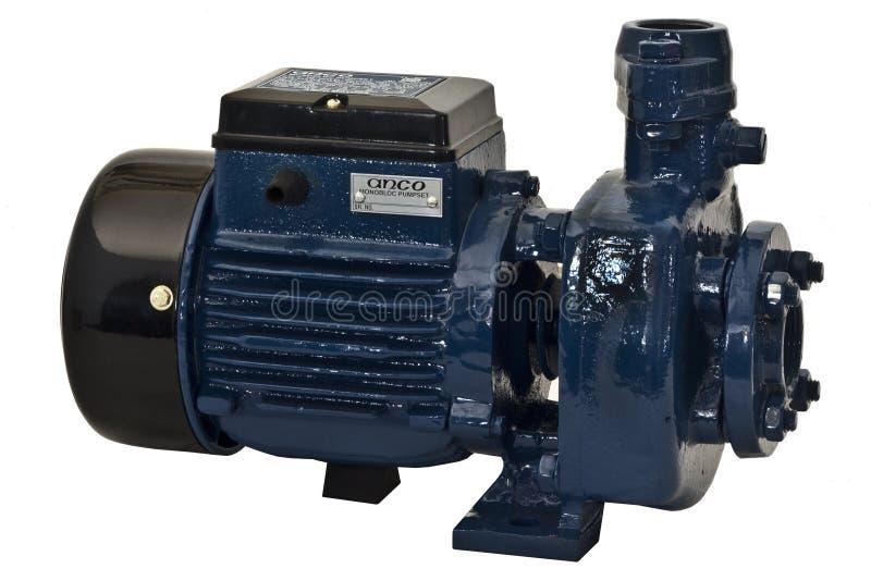 Elektrische motor en pomp stock afbeeldingen