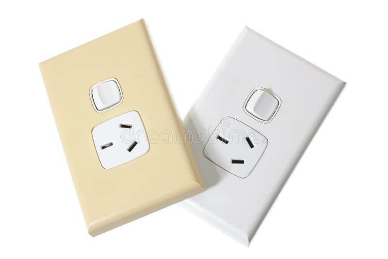Elektrische Muurafzet stock foto's