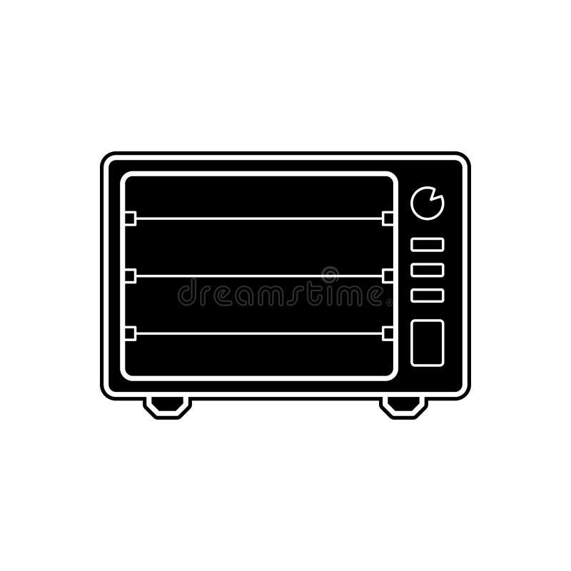 Elektrische Ofenikone Element von Geräten für bewegliches Konzept und Netz Appsikone Glyph, flache Ikone für Websiteentwurf und lizenzfreie abbildung