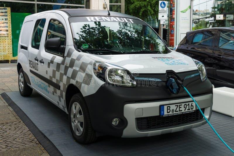 Elektrische paneelbestelwagen Renault Kangoo Z e stock fotografie