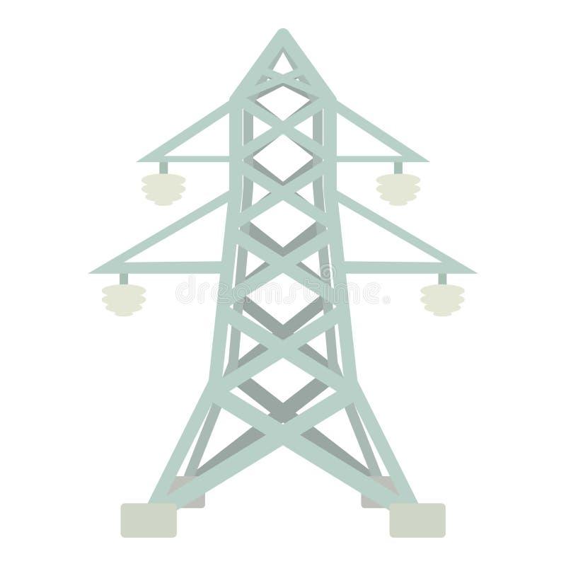 Elektrische Pfostenikone, Karikaturart vektor abbildung