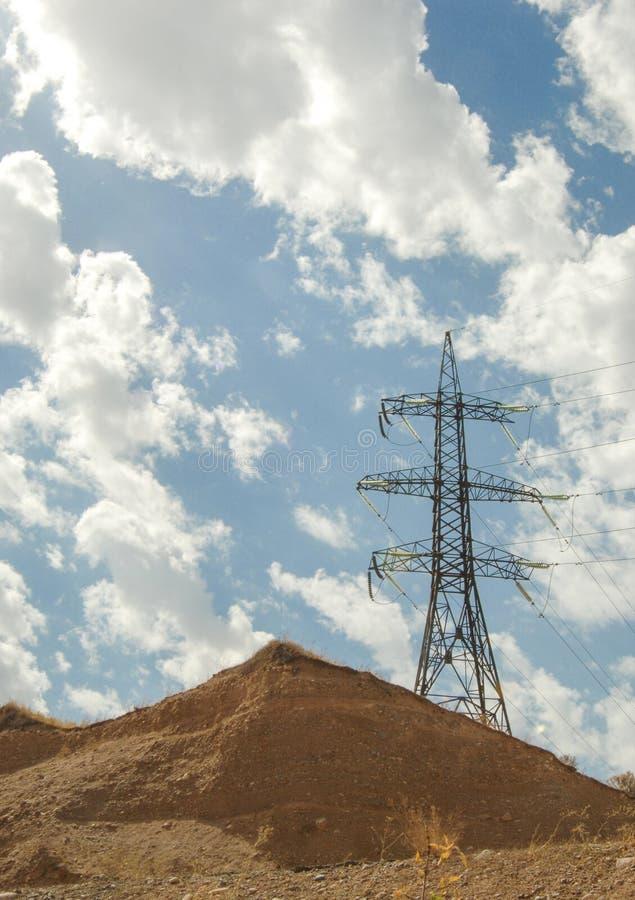Elektrische post, ge?soleerd stock foto