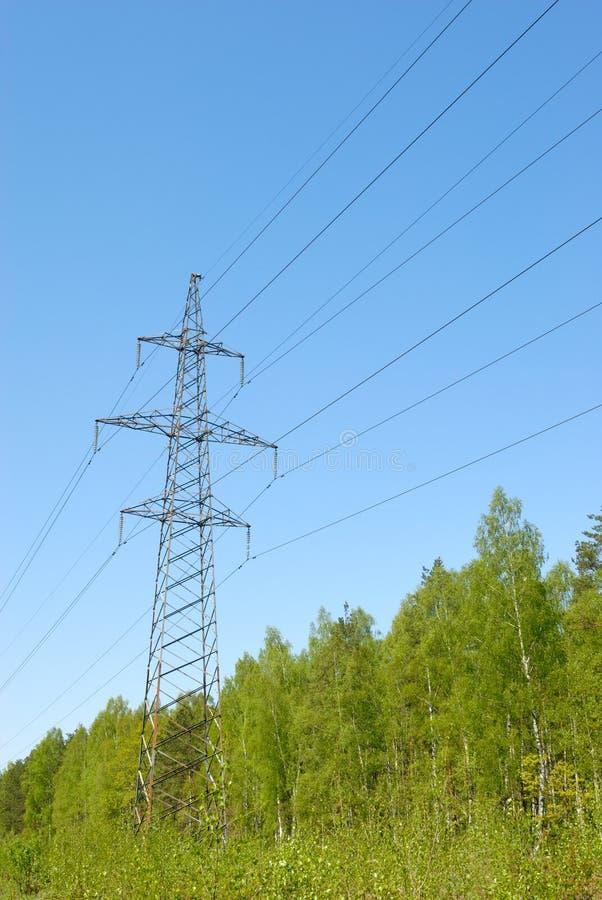 Elektrische powerline royalty-vrije stock afbeeldingen