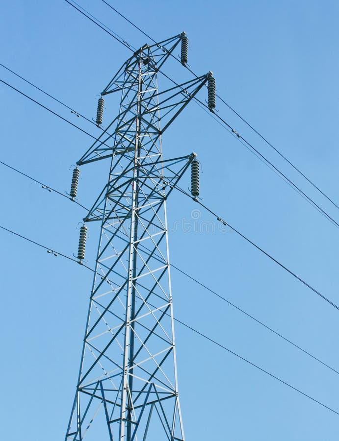 Elektrische pylonen royalty-vrije stock fotografie