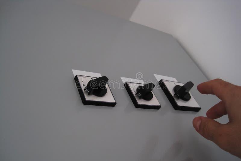 Elektrische Schalter stockfoto