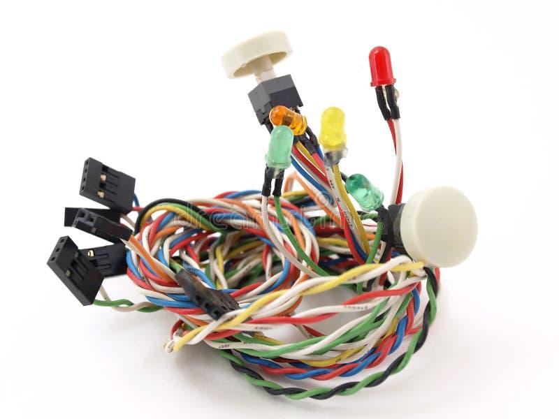 Elektrische Schalter und Leuchten lizenzfreie stockbilder