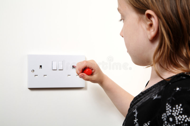Elektrische schok stock foto's