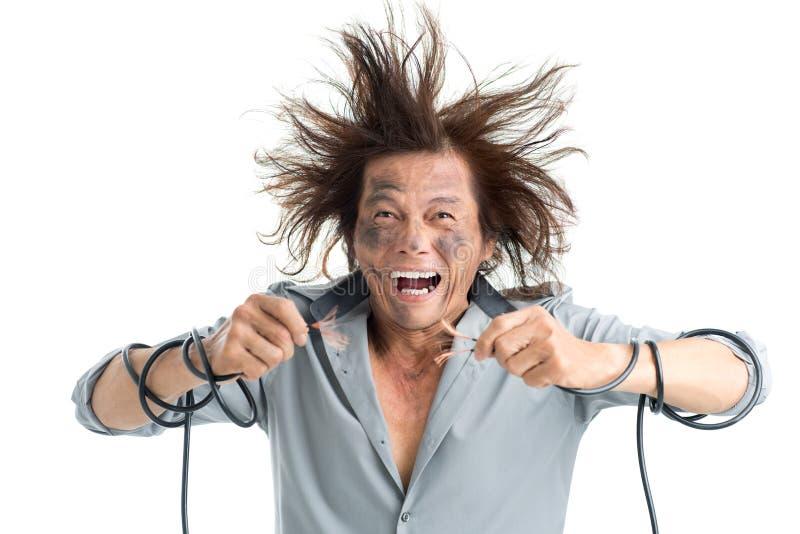 Elektrische schok royalty-vrije stock foto