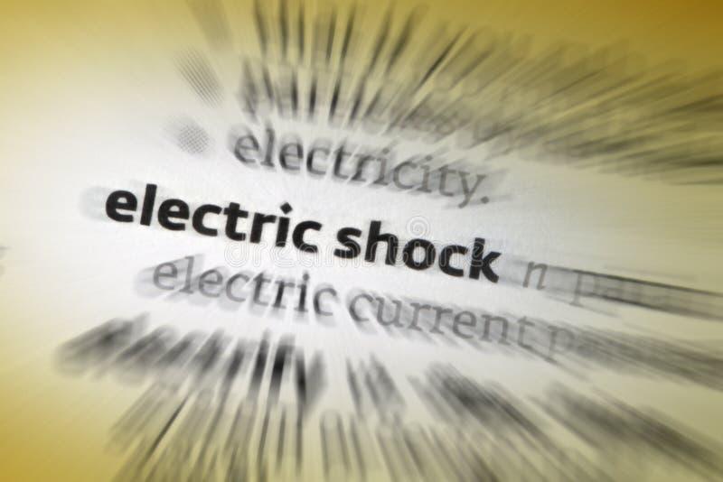 Elektrische schok stock fotografie