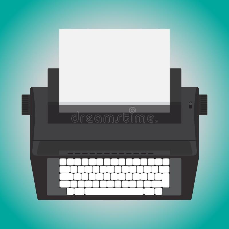 Elektrische Schreibmaschine lizenzfreie abbildung