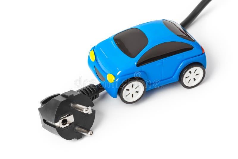 Elektrische stop en stuk speelgoed auto royalty-vrije stock foto's