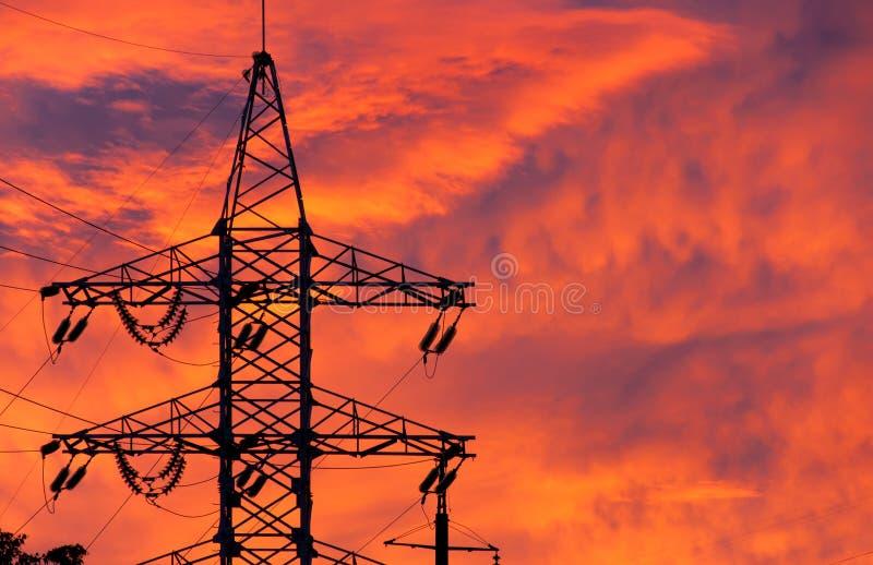 Elektrische Torenclose-up royalty-vrije stock foto's