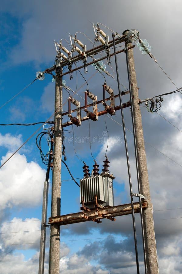 Elektrische transformator stock foto