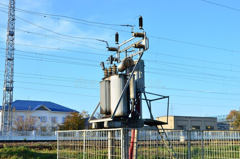 Elektrische Transformator De energieindustrie stock foto