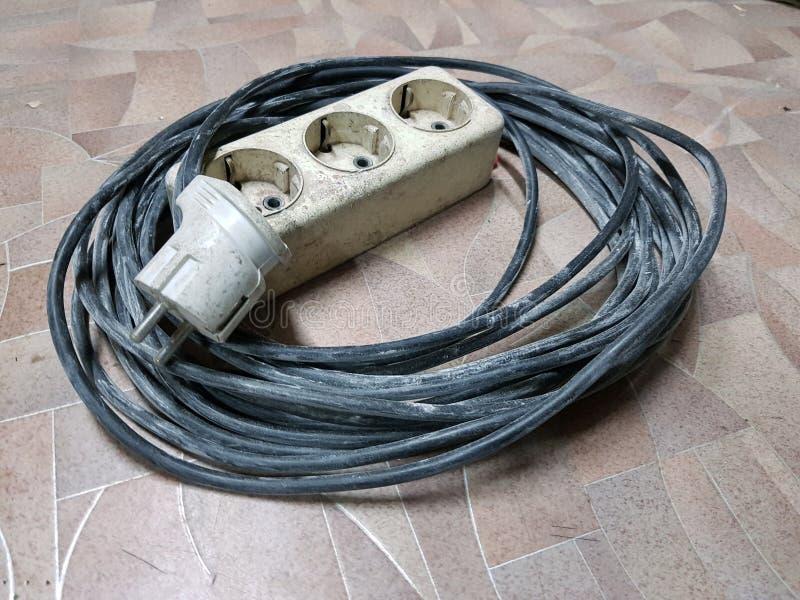 Elektrische uitbreiding voor betegelde vloer royalty-vrije stock afbeelding