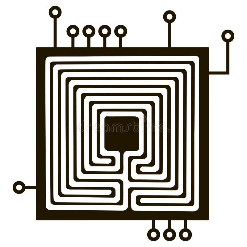 Elektrische Verbindung Für Elektrische Komponenten Vektor Abbildung ...