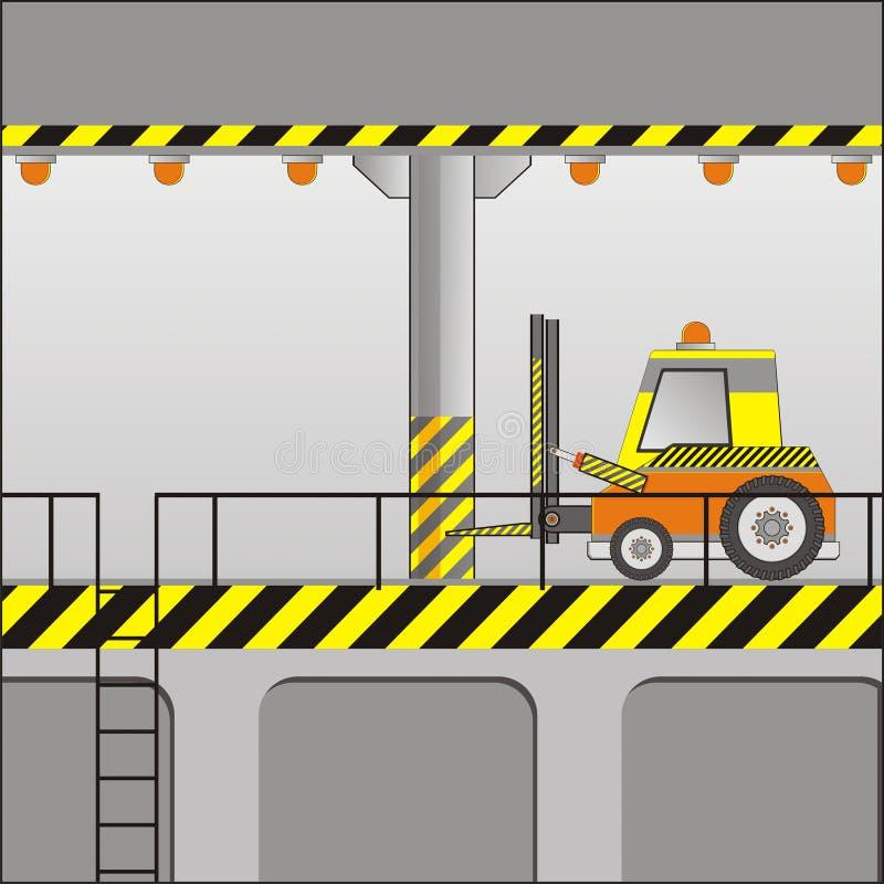 Elektrische vorkheftruck vector illustratie