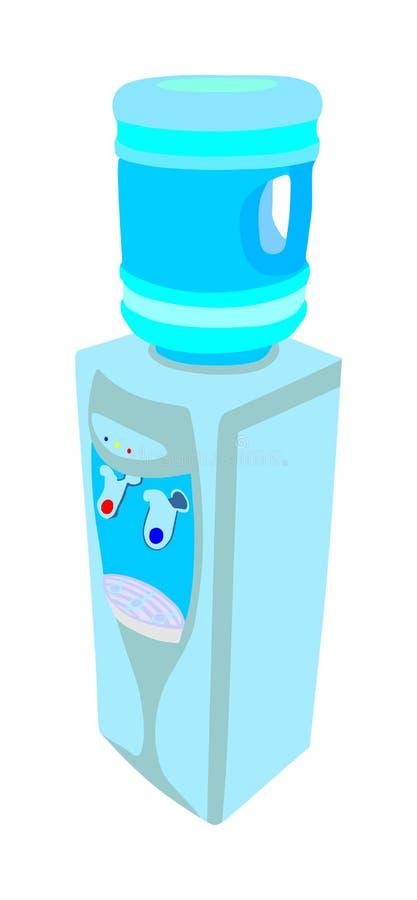 Elektrische Wasserspenderreserve für das Trinkwasser lokalisiert auf weißem Hintergrundvektor stock abbildung