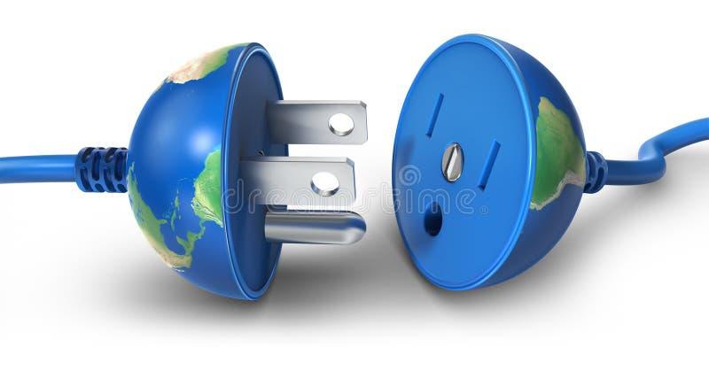 Elektrische Welt lizenzfreie abbildung