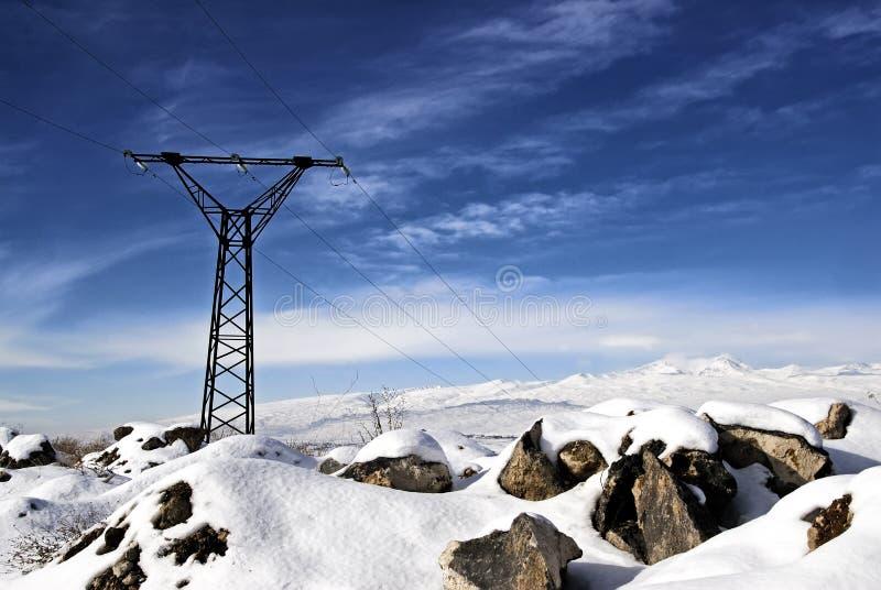 Elektrische Zeilen lizenzfreie stockfotografie