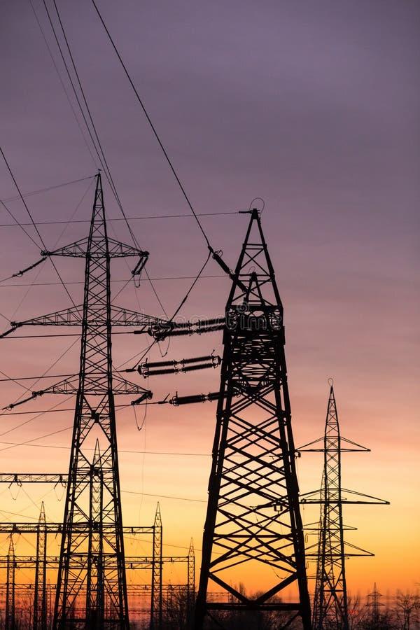 Elektrische zonsondergang royalty-vrije stock foto's