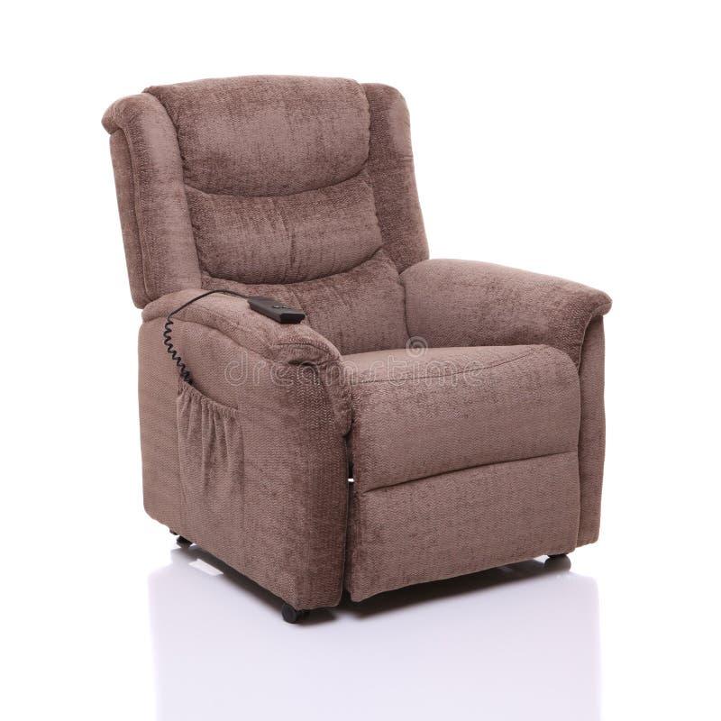 Elektrischer Anstieg und stützen Stuhl. stockfoto