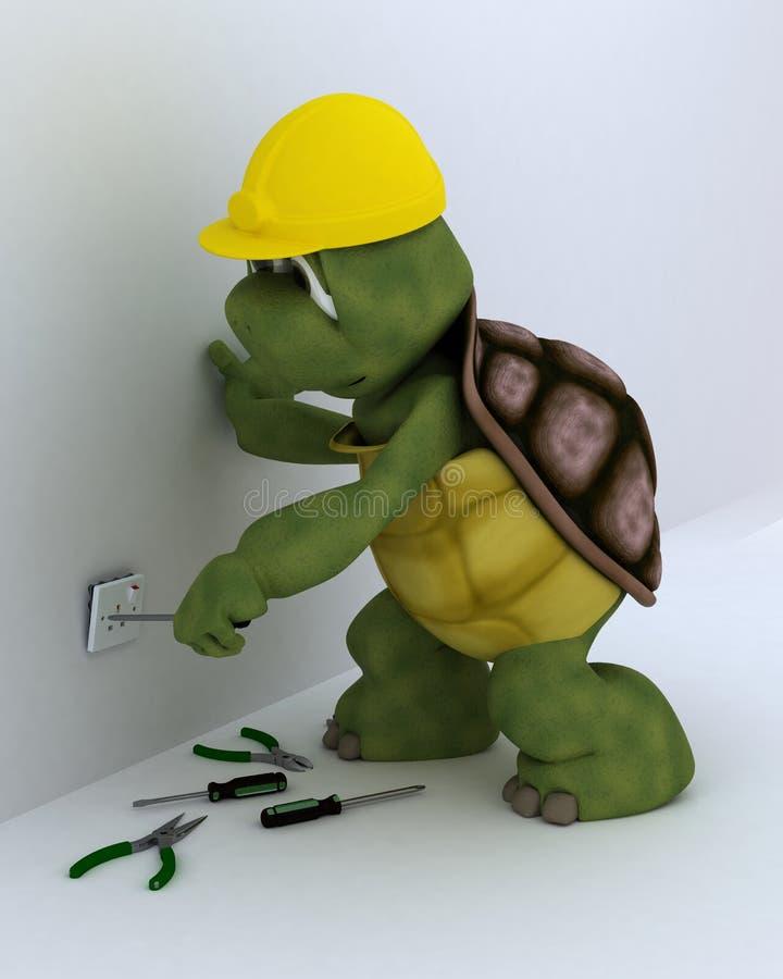 Elektrischer Auftragnehmer der Schildkröte stock abbildung