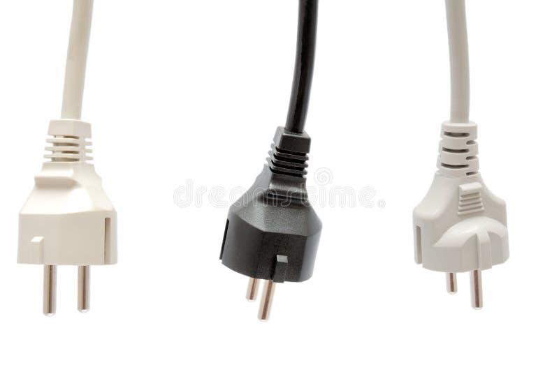 Elektrischer Bolzen getrennt auf Weiß lizenzfreie stockfotos