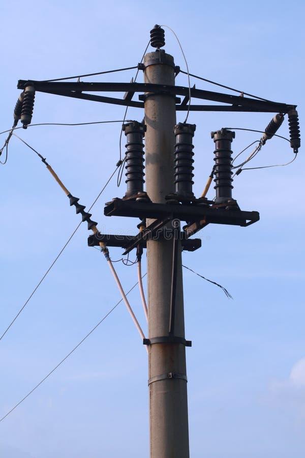 Elektrischer Dienstpol stockfotografie