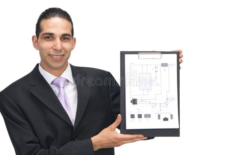 Elektrischer Entwurf stockbild