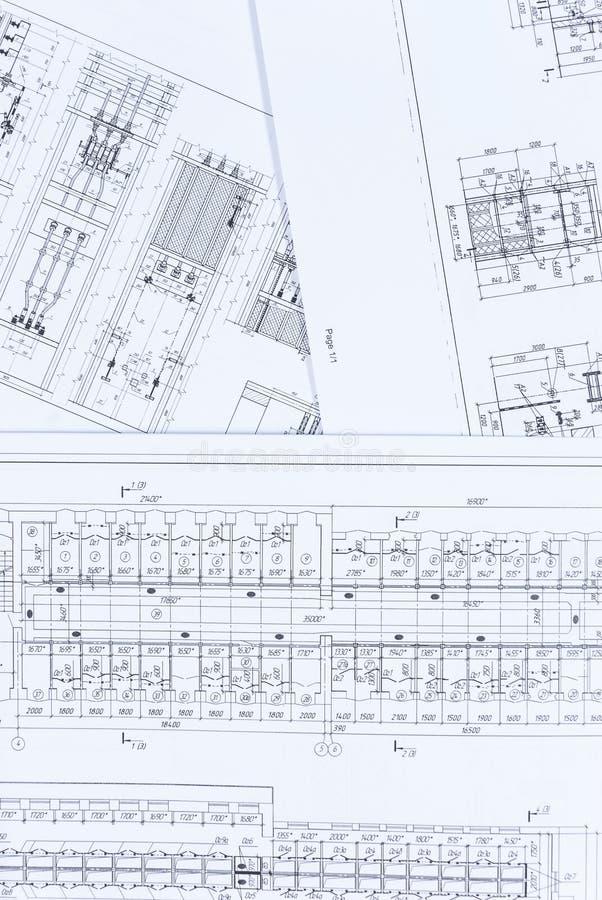 Elektrischer Entwurf und Architekturplan lizenzfreie stockfotografie
