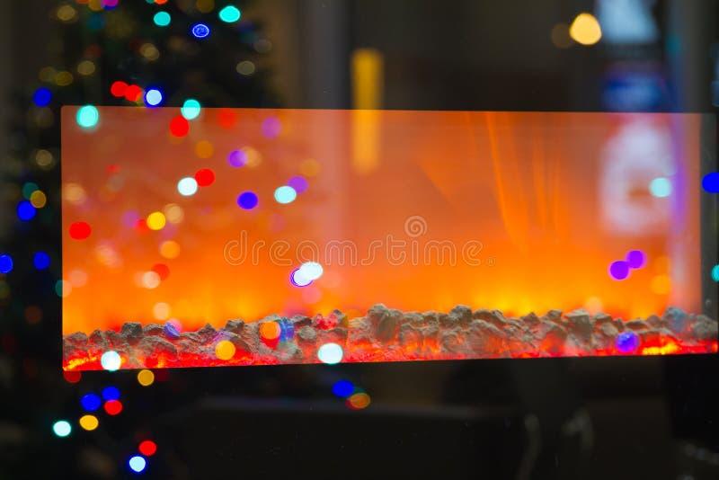 Elektrischer Kamin lizenzfreies stockbild