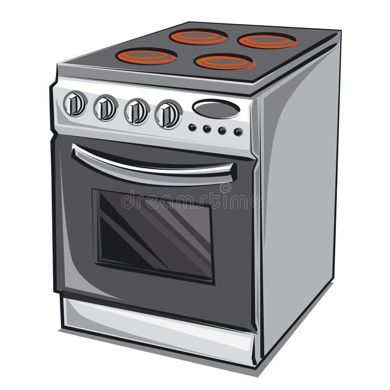 Elektrischer Kocher lizenzfreie abbildung