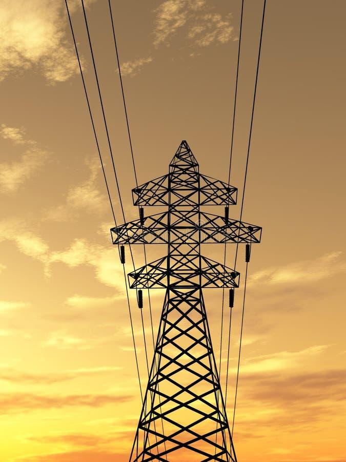Elektrischer Kontrollturm lizenzfreie abbildung