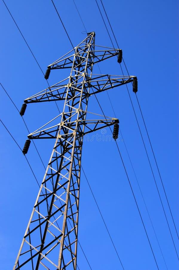 Elektrischer Kontrollturm stockfoto