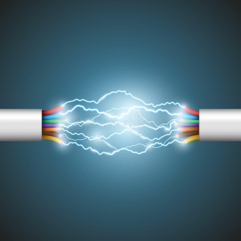 Elektrischer Kreisläuf Auf lagerabbildung stock abbildung