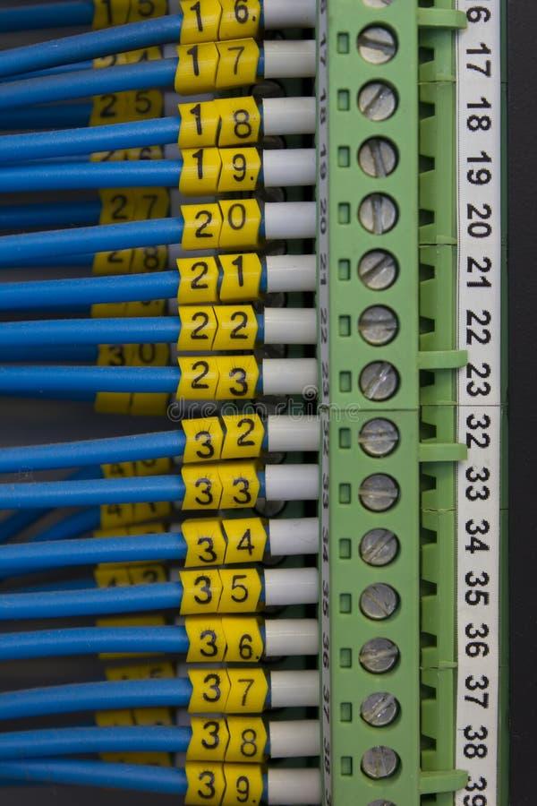 Elektrischer Leitungsabschluß oben lizenzfreies stockfoto