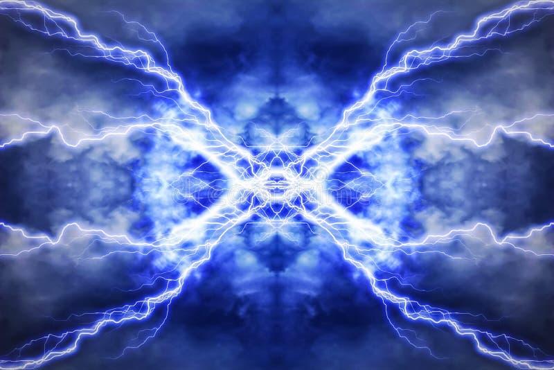 Elektrischer Lichteffekt, abstrakte techno Hintergründe lizenzfreie abbildung