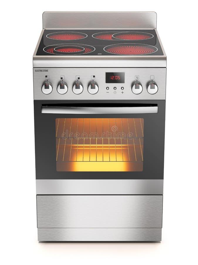 Elektrischer Ofen der Küche stock abbildung