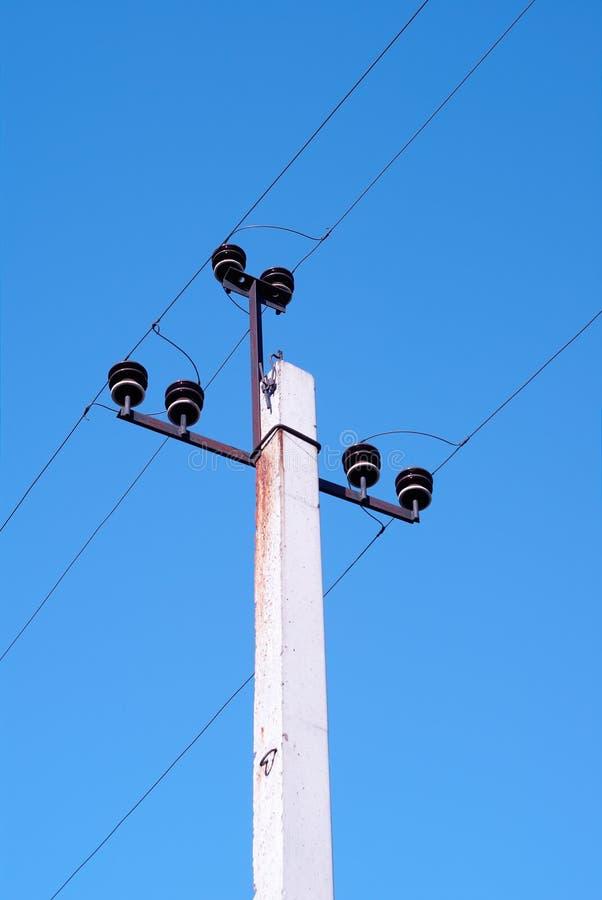 Elektrischer Posten lizenzfreie stockfotografie
