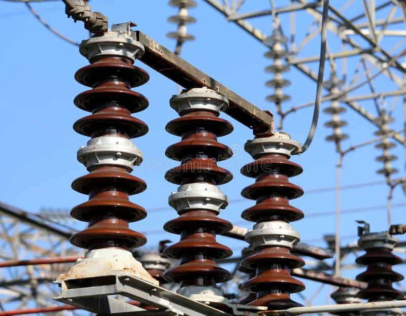 elektrischer Schalter in einer elektrischen Nebenstelle hydroelektrisch lizenzfreie stockfotografie