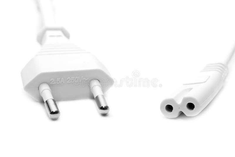 Elektrischer weißer Draht stockbild. Bild von energie - 10370405