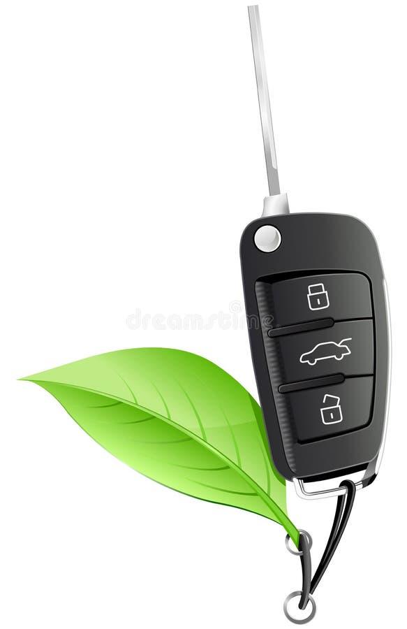 Elektrisches Auto-Taste stock abbildung