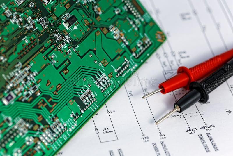 Elektrisches Diagramm, überprüfen. Stockfoto - Bild von teil, finden ...